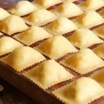 ravioles caseros jamon queso a mano