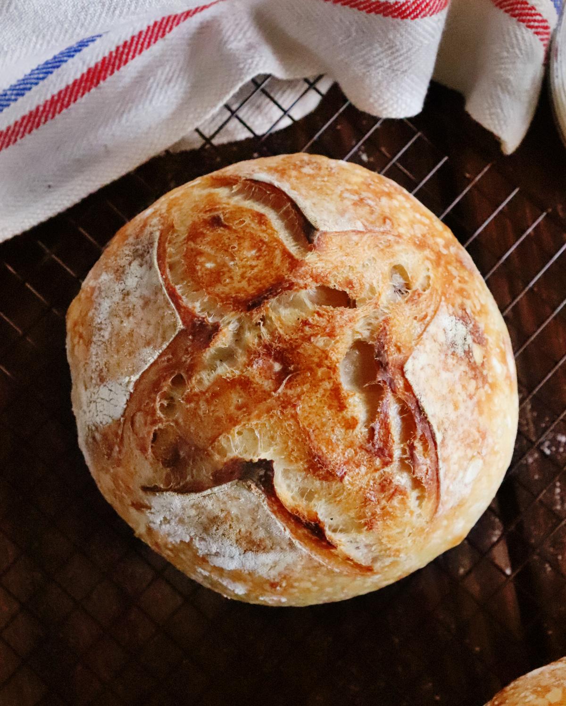 pan de masa madre principiante corteza