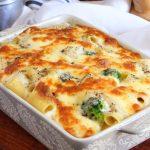 pasta al horno fideos queso gratinado