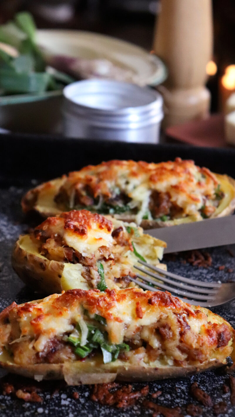 papas rellenas chorizo horno queso