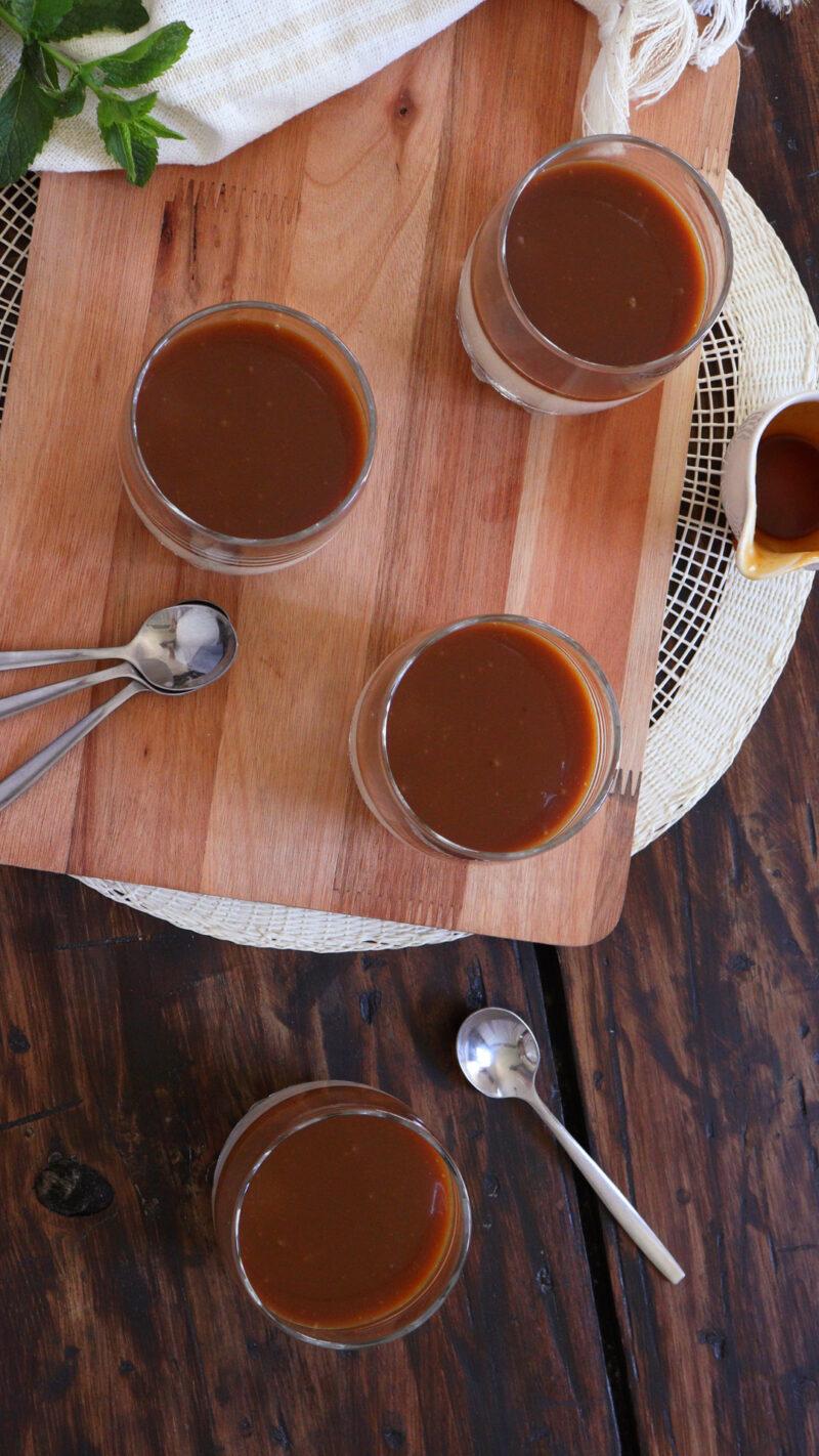 panna cotta panacota vainilla toffee caramelo