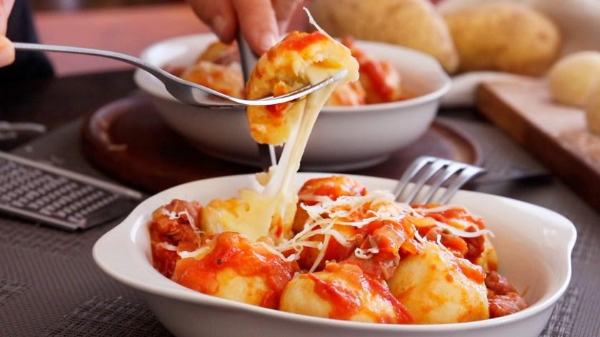 ñoquis de papa rellenos queso gnocchi