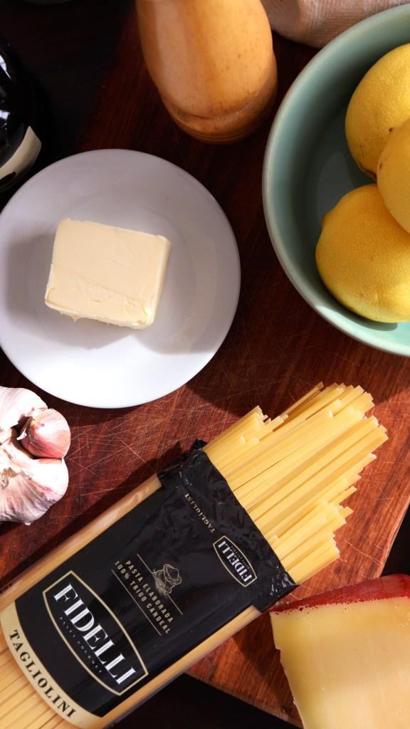 tagliolini limone pasta seca facil