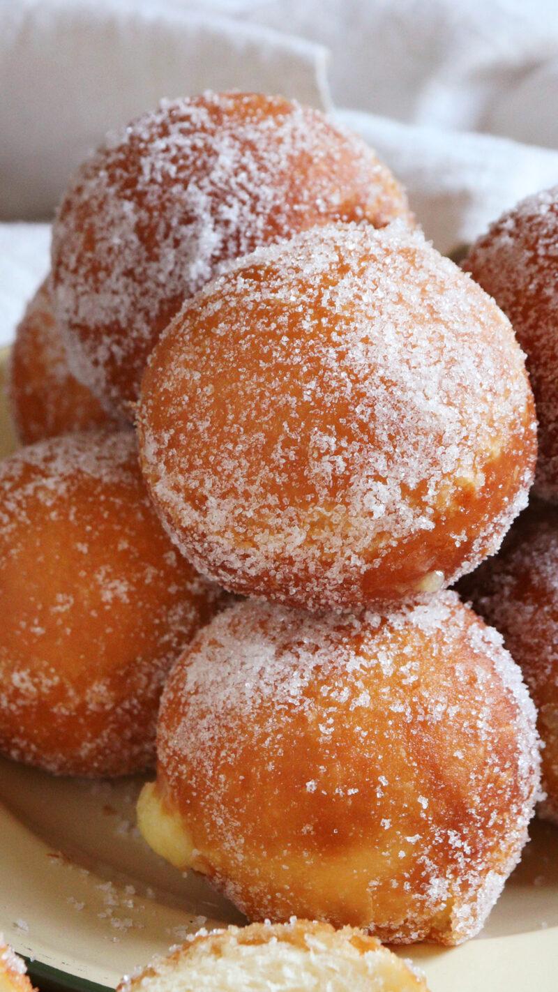 berlinesas bolas de fraile rellenas donuts