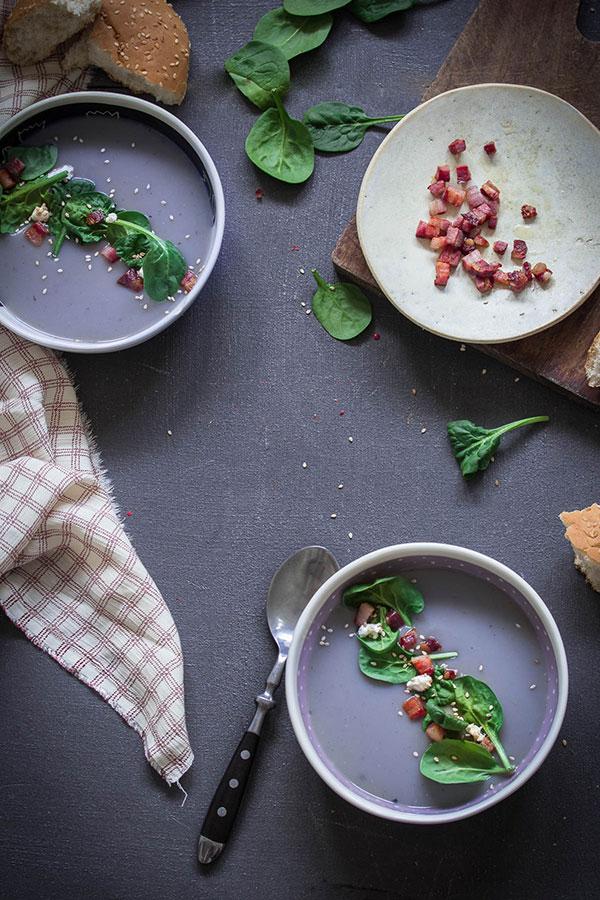 Krem juha od plavog krumpira