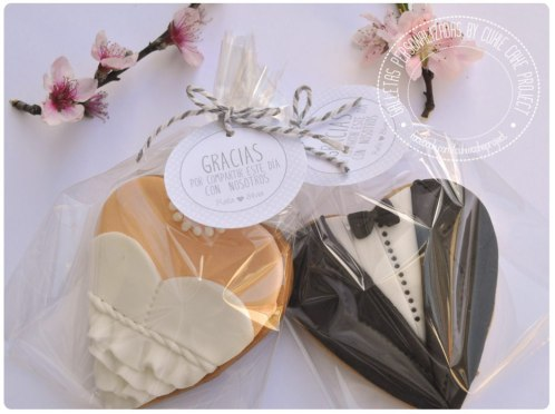 Galletas decoradas para bodas, novios