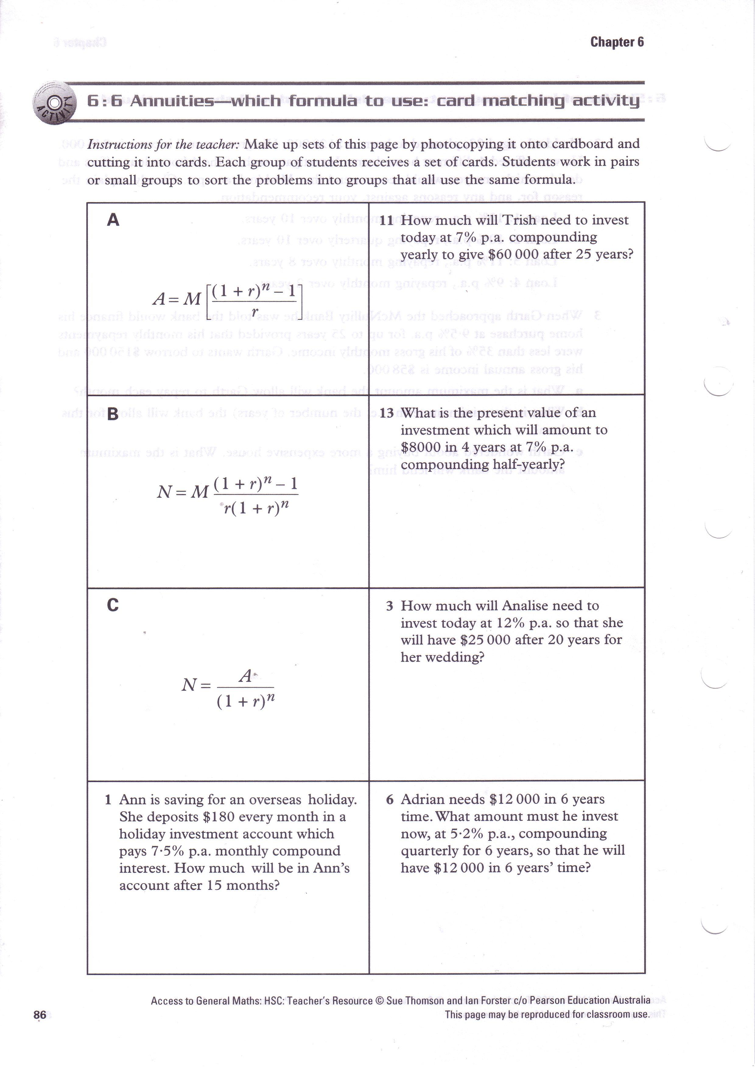 Culeymaths Year 12 General Mathematics