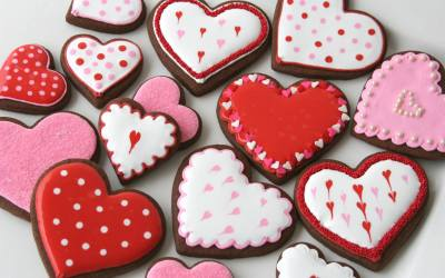 Cookie Decorating for Valentines' Day