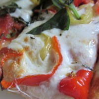 red and green tomato pizza sauce
