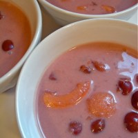 keeping cool with sour cherry and apricot soup