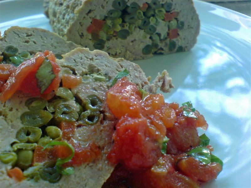 Summer meatloaf with salsa