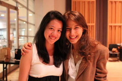 Creative Co-Director Tiffany Ong, left, takes a break with Photography Manager Ortal Isaac