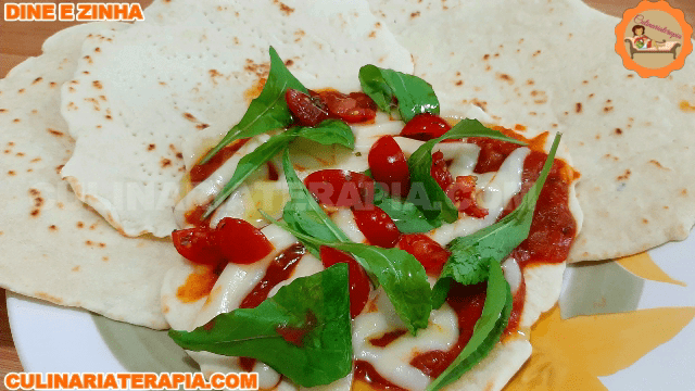 Pão e Pizza Rápida em Minutos Piadina