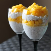 Mango and coconut milk chia pudding: a mighty fine way to end your meal