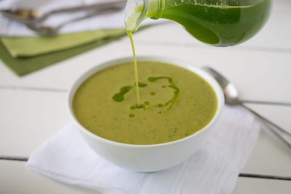 Zucchini-and-sweet-potato-soup