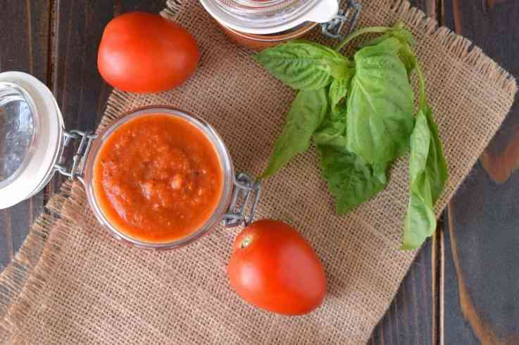 I always have a fresh tomato sauce in my freezer. This roasted tomato sauce is taken to the next level by roasting Roma tomatoes, garlic and onions with fresh basil. This delicious sauce can be used in so many recipes.