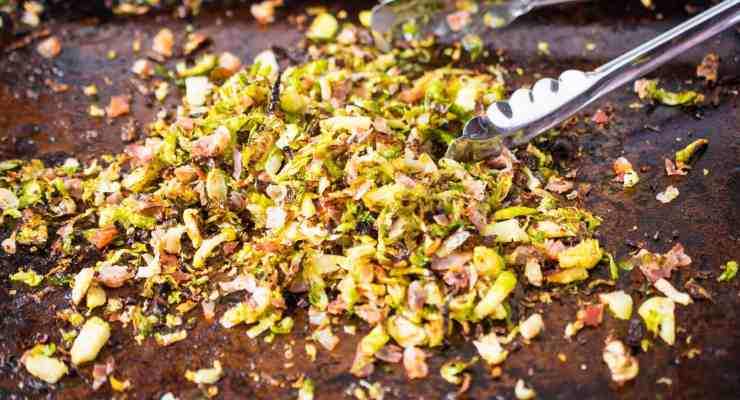 Crispy brussels sprouts with pancetta
