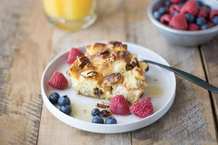 Orange and apple French toast casserole is the perfect prep-ahead breakfast or brunch. Prep the night before and bake it off the next morning.