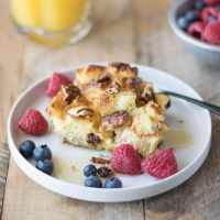 Orange and apple French toast casserole