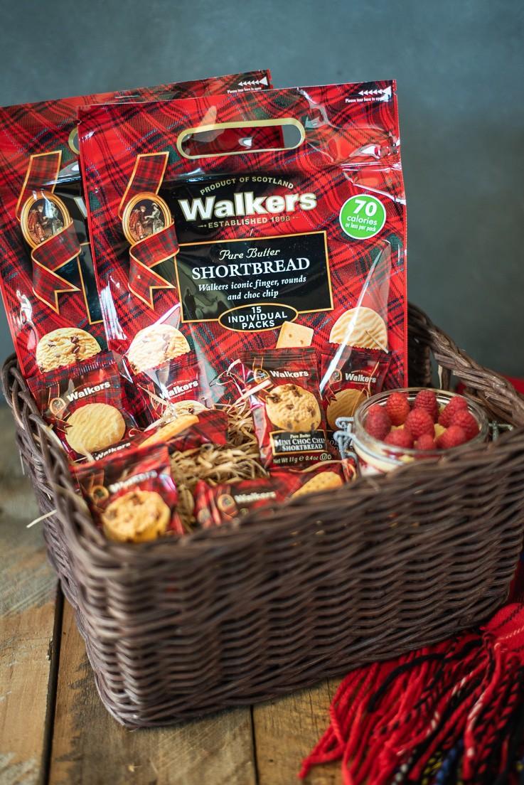 A basket of Walkers shortbread cookies