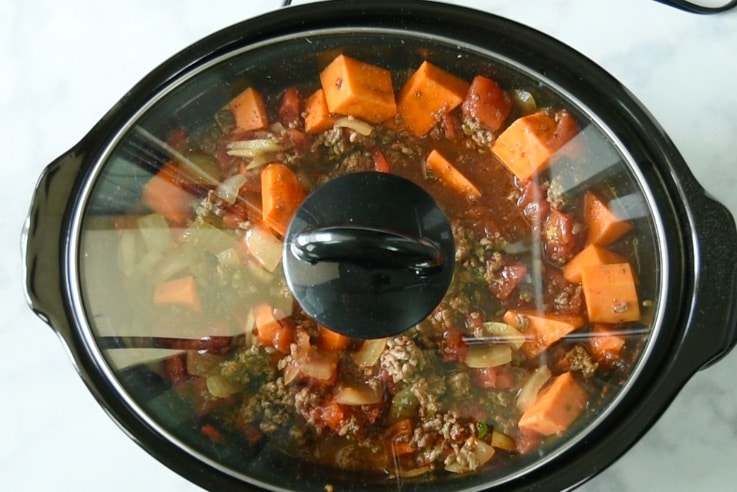 Put the lid on the slow cooker and cook on low for 6 hours