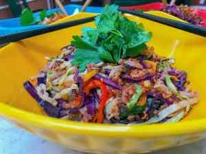 Thai Egg Roll Bowl Keto Crackslaw