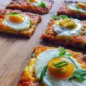 Keto Sausage Crust Breakfast Pizza