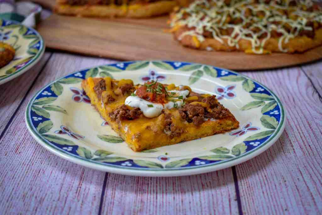 Mexican chicken crust keto pizza