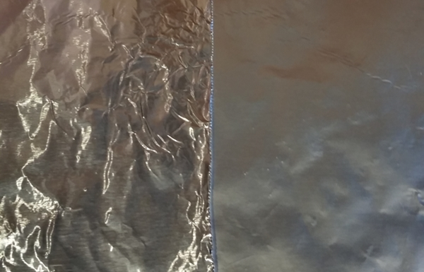 aluminum foil shiny side and dull side