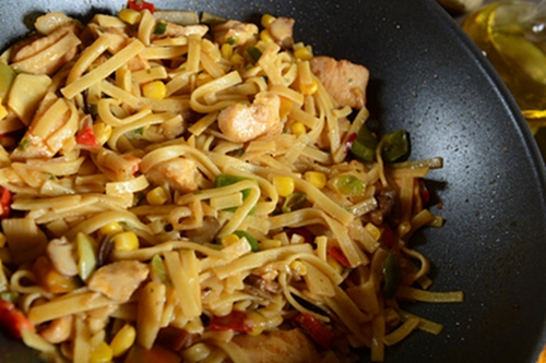 Traditional indonesian meal bami goreng with candlenuts, © kwasny221 via Fotolia