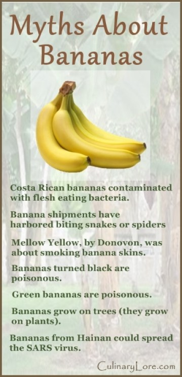 7 myths about bananas