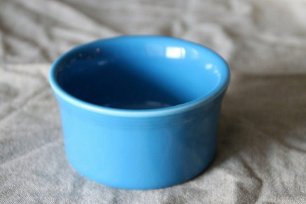 blue porcelain baking ramekin