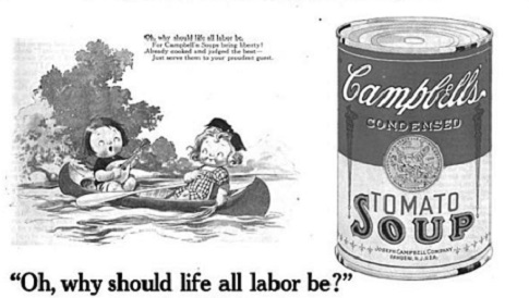 1922 Campbell Tomato Soup ad.