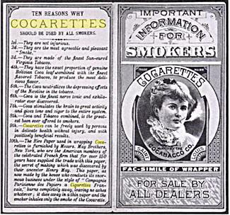 cocarettes cocaine cigarettes advertisement