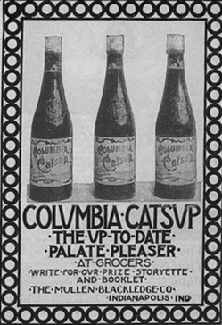 old Columbia Catsup magazine advertisement from 1899