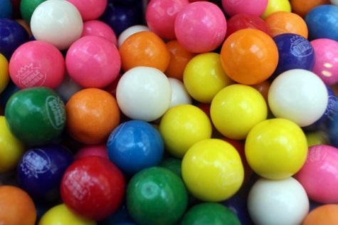Dubble Bubble Gumballs closeup