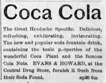 early Coca-Cola advertisement