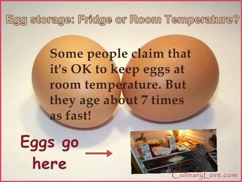 Keeping eggs at room temperature myth