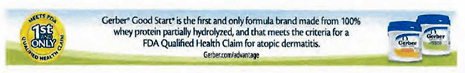 Gerber Good Start atopic dermatitis banner claim