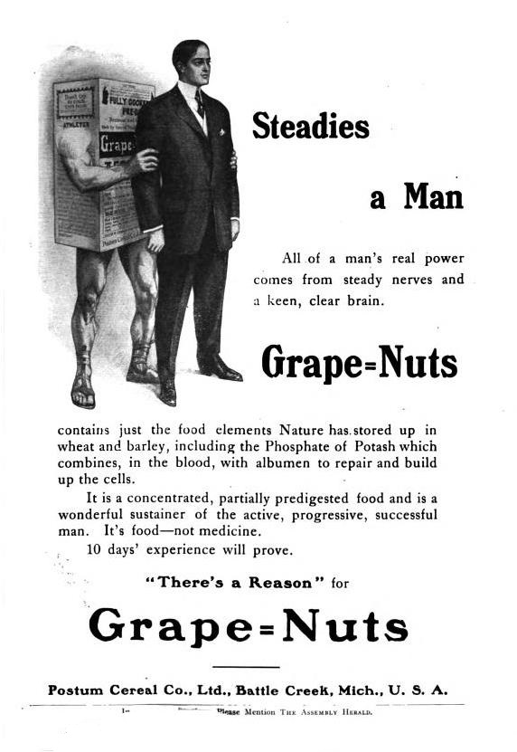 Grape Nuts magazine advertisement from 1907