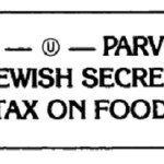 """""""Secret Jewish Food Tax"""" Sticker"""