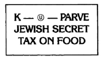 """Secret Jewish Food Tax"" Sticker"