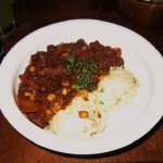 Kentucky Burgoo with mashed potatoes