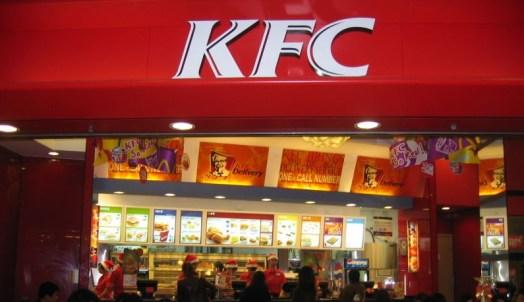 KFC restaurant in Hong Kong