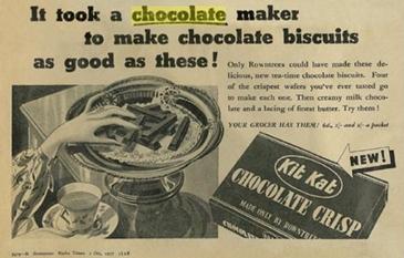 old KitKat candy bar newspaper advertisment