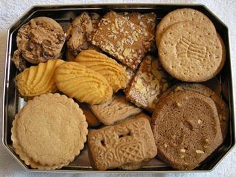 Tray of Dutch Koekjes (cookies), Netherlands