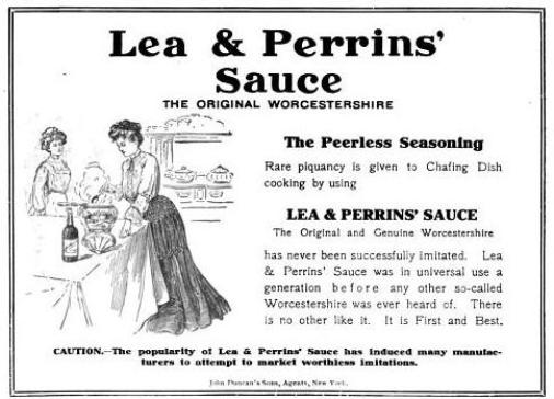 old Lea & Perrins ad, warning of imitators