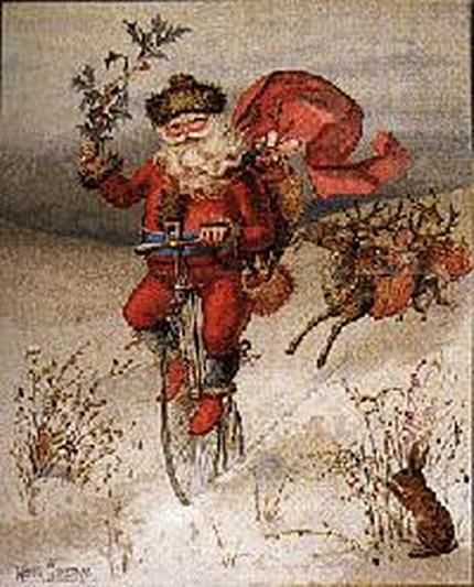 1885 Louis Prang Santa Claus illustration