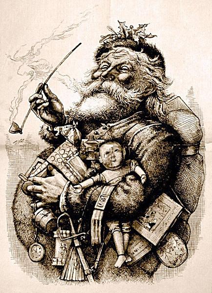 "1881 Thomas Nast Harper's Magazine ""Merry Old Santa"" Drawing"