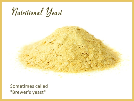 Nutritional yeast sometimes called brewer's yeast, image  © monamakela.com